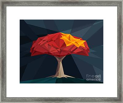 Wired Tree  Framed Print