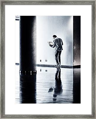 Wireless Connection Framed Print by Joachim G Pinkawa