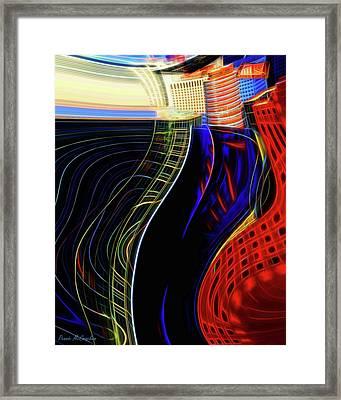 Wireless Wave Framed Print