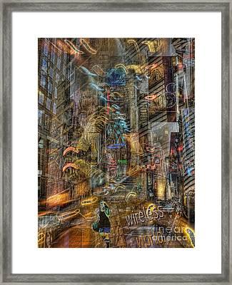 Wireless World Framed Print by Jeff Breiman