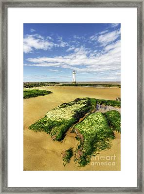Framed Print featuring the photograph Wirral Lighthouse by Ian Mitchell