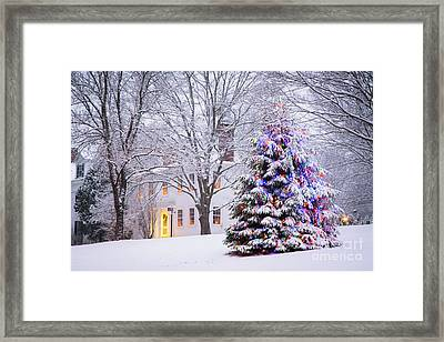 Wiscasset Maine Christmas Framed Print by Benjamin Williamson