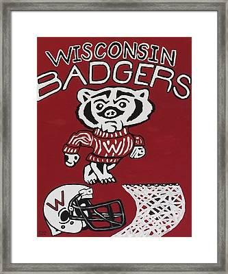 Wisconsin Badgers Framed Print