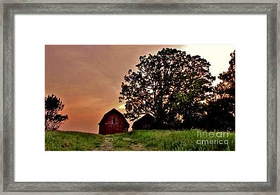 Wisconsin Barn Framed Print by Marilyn Smith