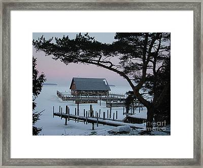 Wisconsin Boathouse Framed Print by Jim Wright