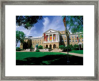 Wisconsin Bright Colors At Bascom Framed Print by UW Madison University Communications