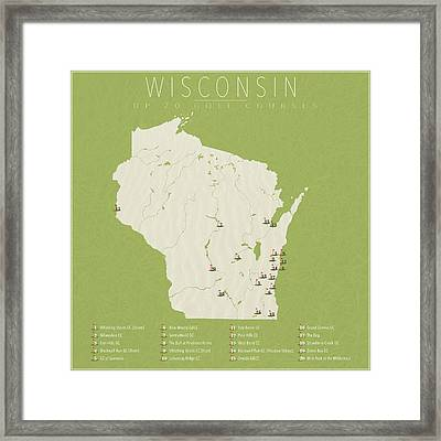 Wisconsin Golf Courses Framed Print by Finlay McNevin