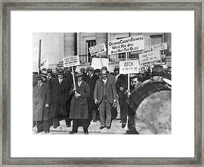 Wisconsin Oleo Protest Framed Print by Underwood Archives
