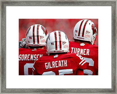 Wisconsin Players Framed Print by Todd Klassy