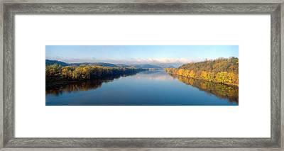 Wisconsin River And Prairie De Chen Framed Print