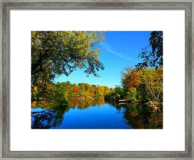 Wisconsin River Colors 2 Framed Print by Brook Burling