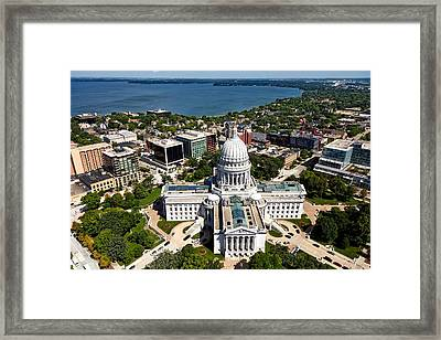 Wisconsin State Capitol - Madison Framed Print by Mountain Dreams