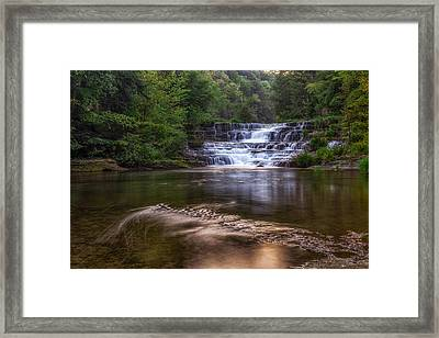 Framed Print featuring the photograph Wiscoy Falls by Mark Papke