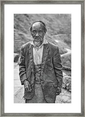 Wisdom - A Year Later Bw Framed Print by Steve Harrington