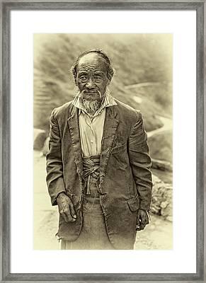 Wisdom - A Year Later - Sepia Framed Print by Steve Harrington
