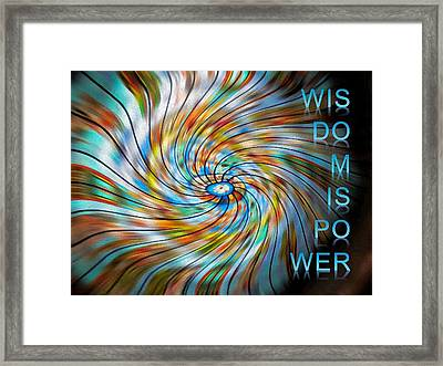 Wisdom Is Power Framed Print