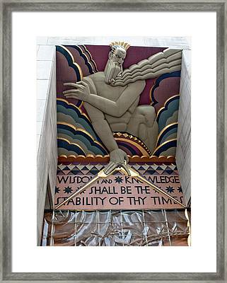 Wisdom Lords Over Rockefeller Center Framed Print