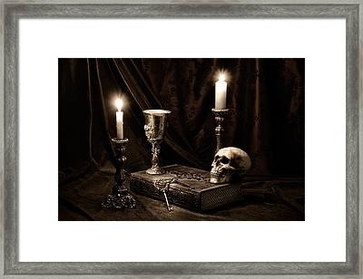 Wisdom Of The Ages Still Life Framed Print by Tom Mc Nemar