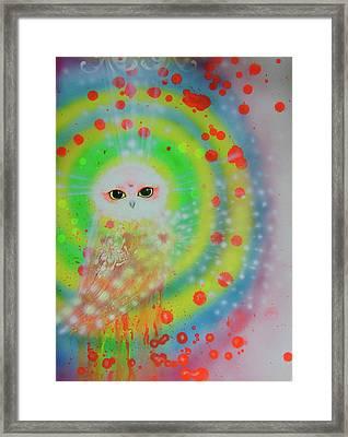 Wisdom Of  The Owl  Framed Print