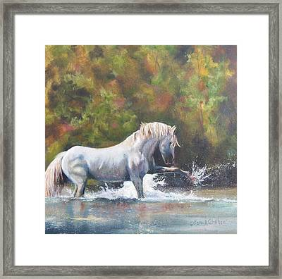 Framed Print featuring the painting Wisdom Of The Wild by Karen Kennedy Chatham