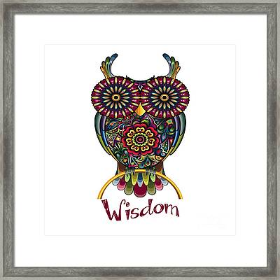 Wisdom Framed Print by Respect the Queen