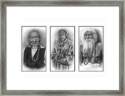 Wisdom - Such A Long Journey 2 Bw Framed Print by Steve Harrington