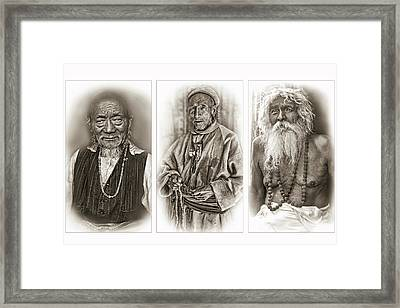 Wisdom - Such A Long Journey - Sepia Framed Print by Steve Harrington