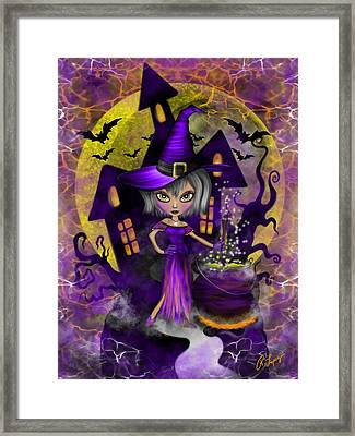 Wisdom Witch Fantasy Art Framed Print