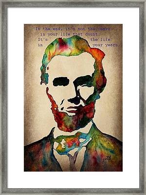 Wise Abraham Lincoln Quote Framed Print