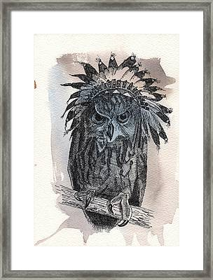 Wise Chief Framed Print by Nathan Rhoads