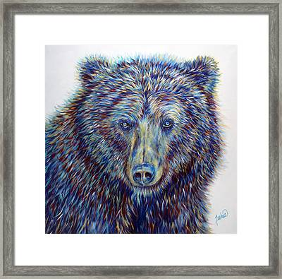 Wise Eyes Framed Print by Teshia Art