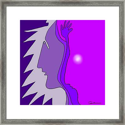 Wise Friend Framed Print