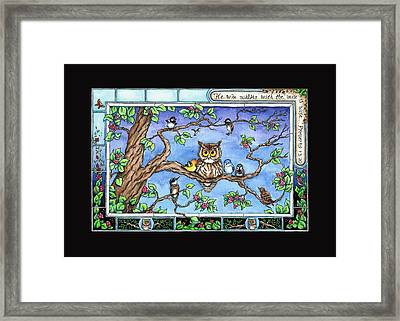 Wise Guys Framed Print