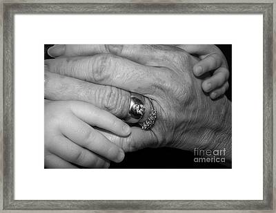 Wise Hands Framed Print