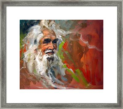 Wise Old Man Framed Print by Andrew Judd