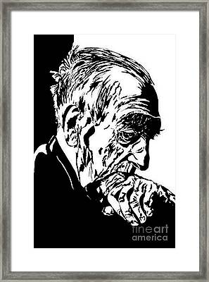Wise Thought Framed Print by Dipali Shah