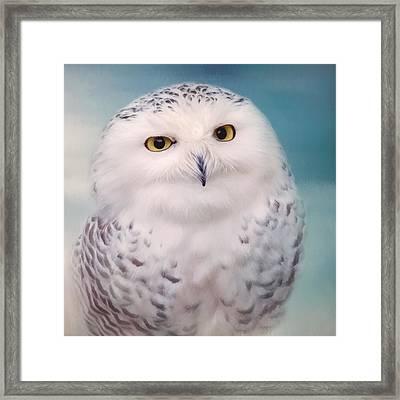 Wisest Of All - Owl Art Framed Print by Jordan Blackstone