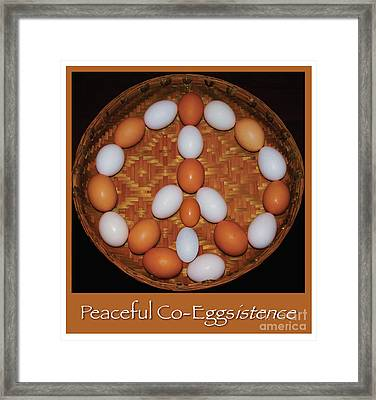 Wish For Peaceful Co-eggistence  Framed Print