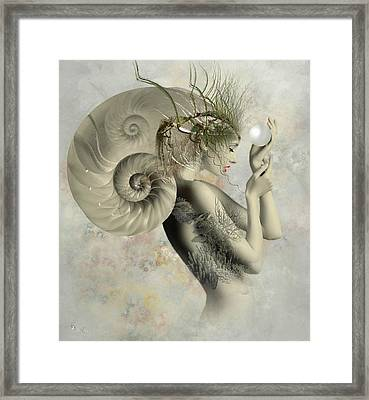 Wish On A Pearl Framed Print by Ali Oppy