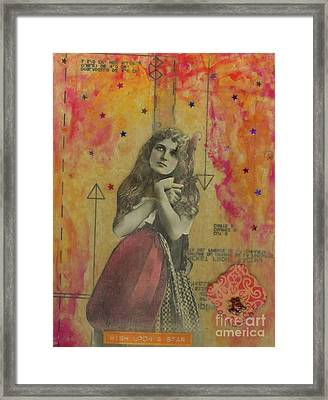 Framed Print featuring the mixed media Wish Upon A Star by Desiree Paquette