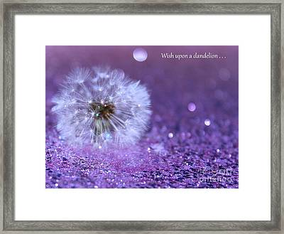 Wish Upon Framed Print
