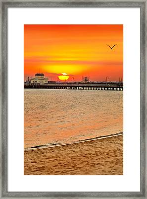 Wish You Were Here Framed Print by Az Jackson