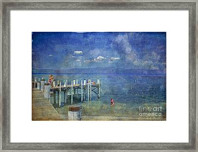Framed Print featuring the photograph Wish You Were Here Chambers Landing Lake Tahoe Ca by David Zanzinger