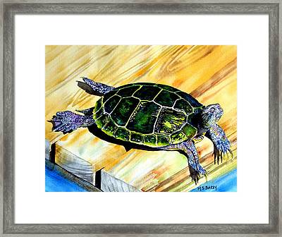 Wish You Were Here Framed Print by Maria Barry