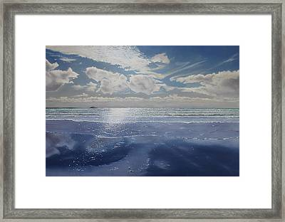 Wish You Were Here Framed Print by Paul Newcastle