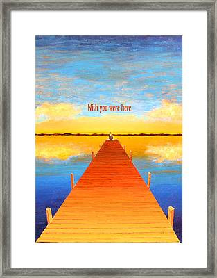 Wish - Pier - Greeting Card Framed Print