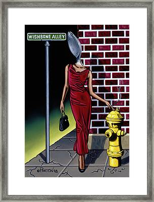Wishbone Alley Framed Print