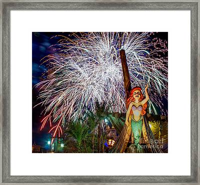 Wishes Over Prince Eric's Castle Framed Print