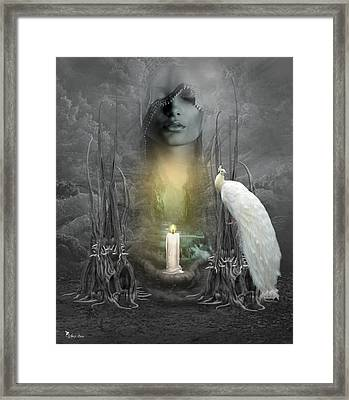 Wishing Candle Framed Print