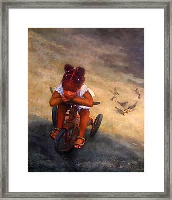Wishing For Wings Framed Print by Valerie Aune